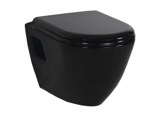 Sapho Paula TP325 11SI WC závěsné 35,5x50cm, černá
