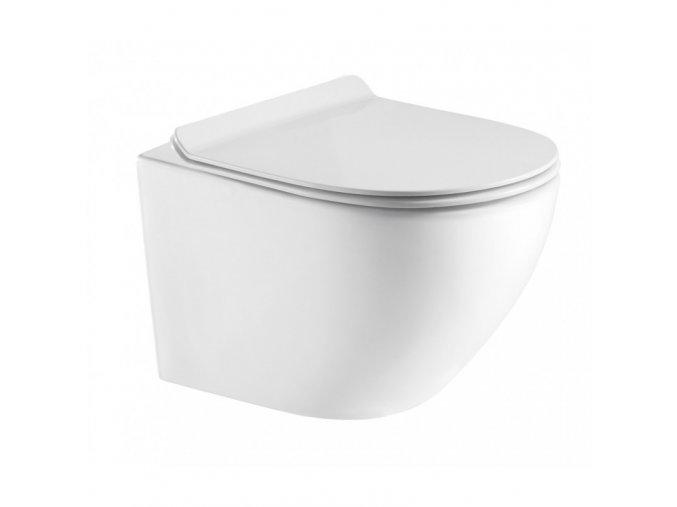 Hopa Arco OLKLT046E Rimless Závěsné WC, Slim Soft close