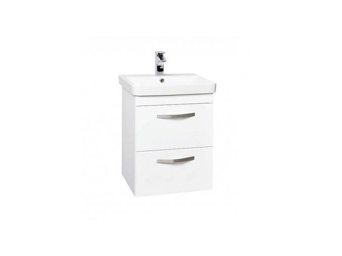 Krajcar LX-Luxury Koupelnová skříňka s keramickým umyvadlem 50x46x65 cm, LX50