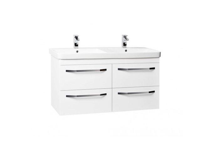 Krajcar LX-Luxury Koupelnová skříňka s keramickým dvojumyvadlem 120x46x65 cm, LX120