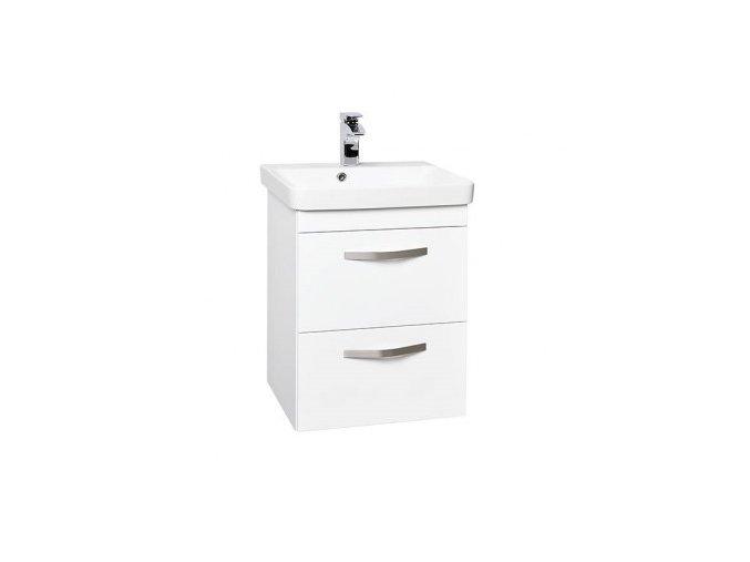 Krajcar LX-Luxury Koupelnová skříňka s úzkým keramickým umyvadlem 55x37x65 cm, LXT55