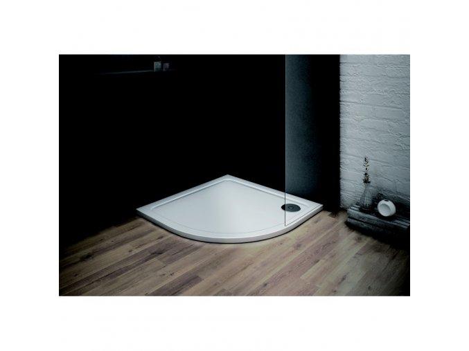 Olsen Spa VENETS   Čtvrtkruhová vanička 90×90cm, litý mramor 2