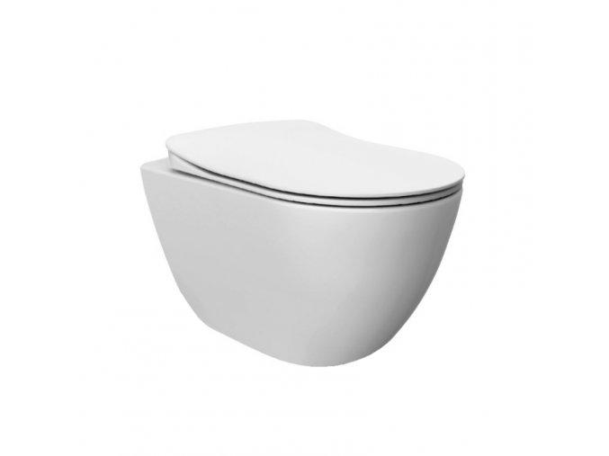 TMS Uni Chrome X01759   WC závěsné RimOff 35x51 cm, bílá