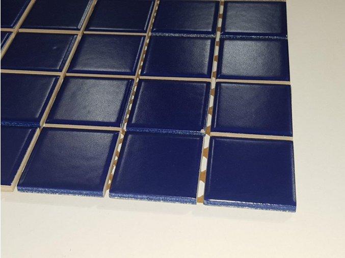 Mozaika modrá 4,8x4,8 cm, matná