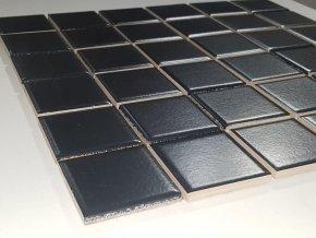 Mozaika černá 4,8x4,8 cm, matná 2