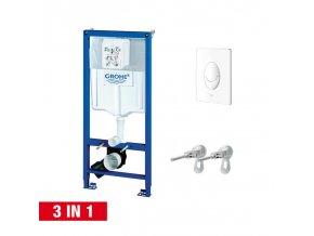 Grohe Rapid SL Sada 3 v 1 pro WC, alpská bílá, 38722001