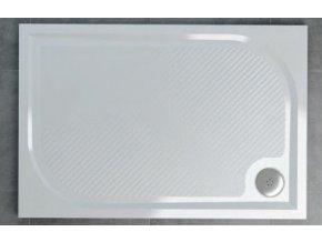 SanSwiss Ronal Marblemate WM obdélníková sprchová vanička, 80x100x3cm, litý mramor, WMA8010004