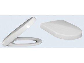 Villeroy & Boch SUBWAY 2.0 WC sedátko, SUPRAFIX s chromovými panty, bílá, 9M18S101 2