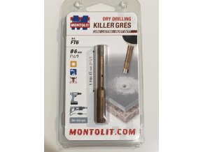 Montolit KILLER FT6 Diamantová korunka, suché vrtání, Ø 6mm