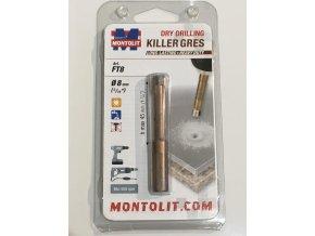 Montolit KILLER FT8 Diamantová korunka, suché vrtání, Ø 8mm
