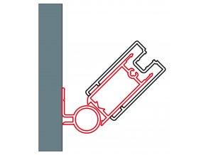 SanSwiss WTT3.50.1898 Sada 2 profilů k upevnění dveří