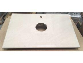 Deska pod umyvadlo z výroby s otvorem pro baterii, 90x60 cm