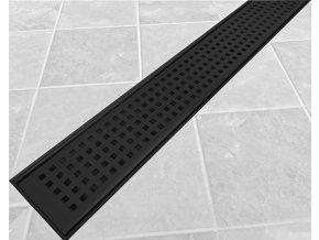 SQUARE BLACK ID179534 | Sprchový žlab 90 cm včetně roštu, černý