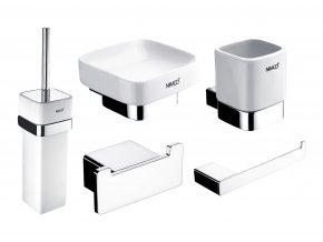Nimco KIBO | Set chromových koupelnových doplňků z mosazi