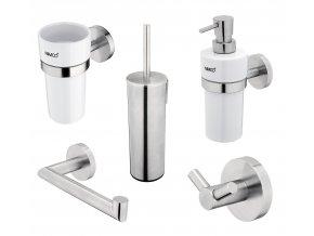 Nimco UNIX NEREZ | Set koupelnových doplňků, nerez ocel