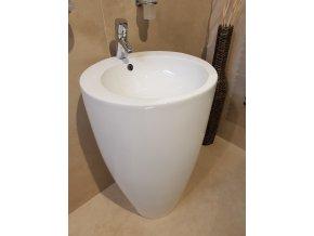 Dream volně stojící keramické umyvadlo, Glazura proti usazování vodního kamene, 50x50x82 cm, KD-04PB