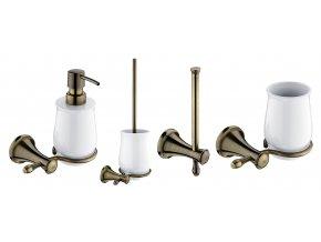 Nimco LADA | Set koupelnových doplňků ze starobylé mosazi