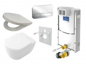Villeroy & Boch modul set + WC a sedátko, tlačítko E200