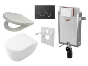Alcaplast Revnomodul set + WC a sedátko, tlačítko M778