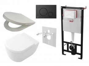 Alcaplast Sádromodul + WC a sedátko, tlačítko M678
