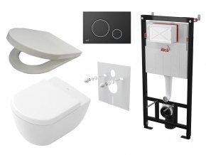 Alcaplast Sádromodul + WC a sedátko, tlačítko M778