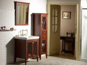 Sapho CROSS CR011 | Zrcadlo 60x80cm, masiv dřevo, mahagon