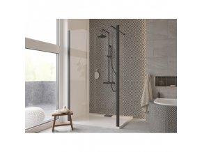 Hopa ECO N   Walk in sprchový kout 195x90 cm, černá matný
