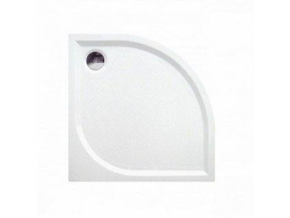 Čtvrtkruhová sprchová vanička KR80 z litého mramoru 80x80 cm-czkoupelna