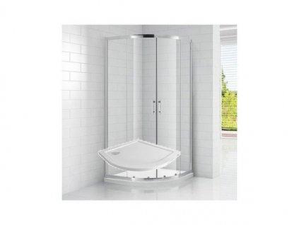 Čtvrtkruhový sprchový kout ROSS SMC 90x90 cm s vaničkou | koupelnyross