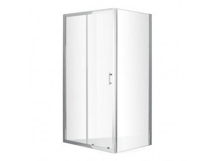 Obdélníková zástěna DIMENSION PLUS 100x80 cm, čiré sklo 6mm | koupelnyross
