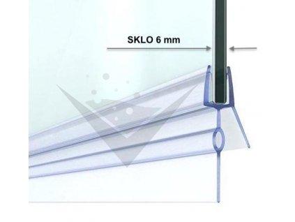 Stírací lišta silikonová spodní 50cm, na sprchové dveře 6 mm - sada 2 ks | koupelnyross