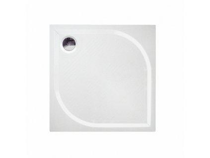 Čtvercová sprchová vanička KC80 z litého mramoru 80x80 cm | koupelnyross