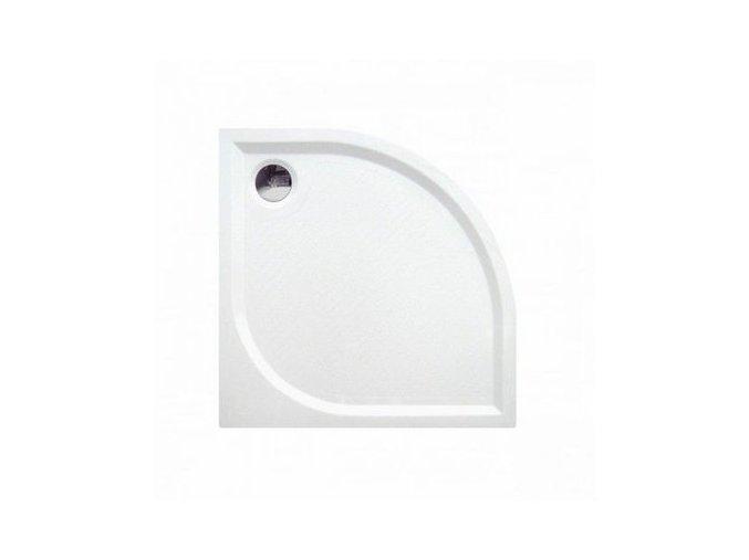 Čtvrtkruhová sprchová vanička KR90 z litého mramoru 90x90 cm | koupelnyross.cz