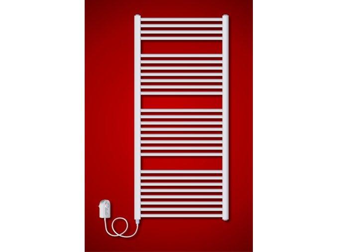 BK.ER 600 x 730 mm elektrický koupelnový topný žebřík s regulátorem teploty | koupelnyross.cz
