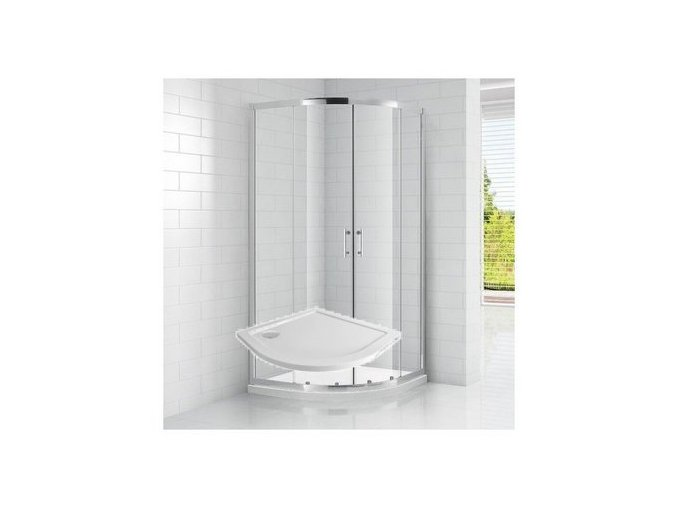Čtvrtkruhový sprchový kout ROSS REAL 90x90 cm s vaničkou SMC | koupelnyross.cz