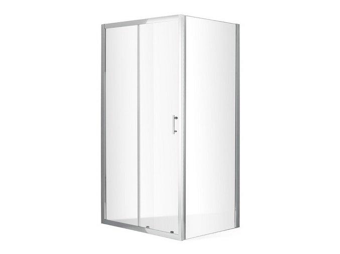 Obdélníková zástěna DIMENSION PLUS 120x80 cm, čiré sklo 6mm | koupelnyross.cz