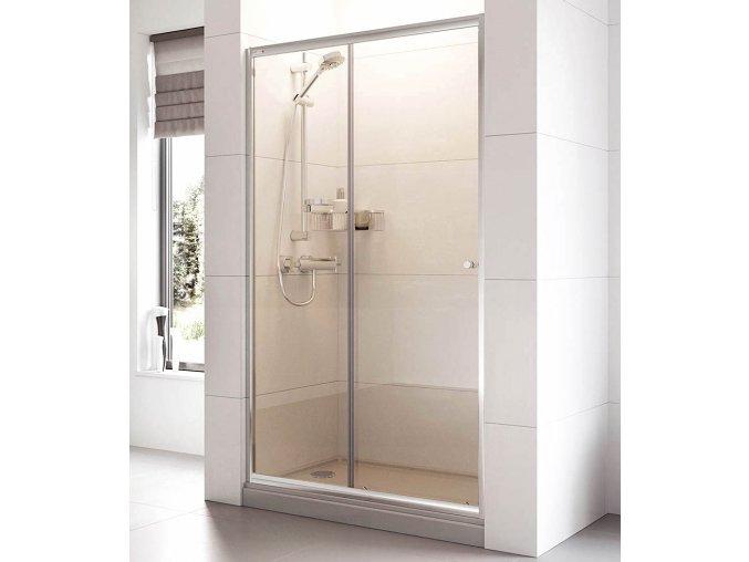 Posuvné sprchové dveře ROSS Relax 115 pro niku 111 až 116 cm, čiré sklo 6 mm   koupelnyross.cz