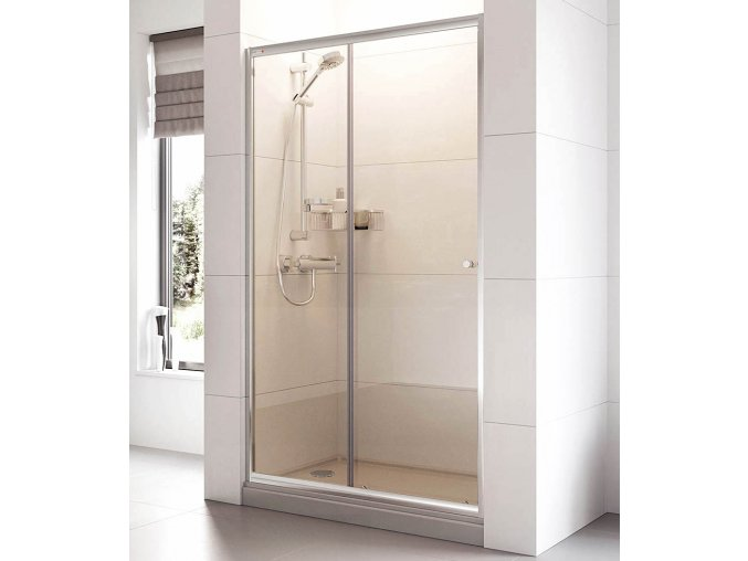 Posuvné sprchové dveře ROSS Relax 110 pro niku 106 až 111 cm, čiré sklo 6 mm | koupelnyross.cz