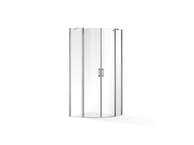 ROSS - Čtvrtkruhová zástěna Luxus 90x90 cm | koupelnyross.cz