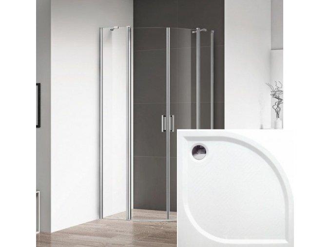 ROSS - Čtvrtkruhový sprchový kout Luxus 80x80 cm | koupelnyross.cz