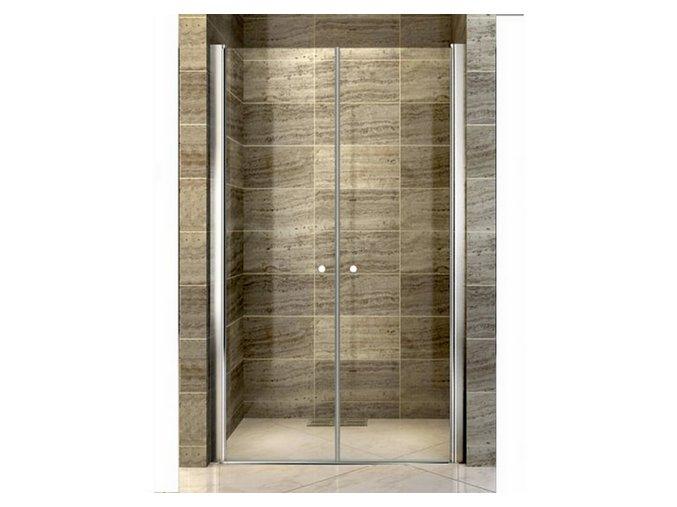 Komfort T2 125 - sprchové dvoukřídlé dveře 121-126 cm   koupelnyross.cz