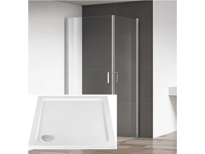 Boston 80x80 - čtvercový sprchový kout s vaničkou z litého mramoru   koupelnyross.cz