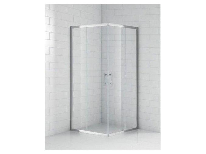 Čtvercový sprchový kout ROSS BOSS 80 | koupelnyross.cz