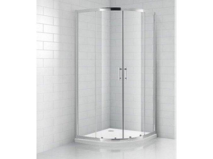 Čtvrtkruhový sprchový kout ROSS REAL 80 | koupelnyross.cz