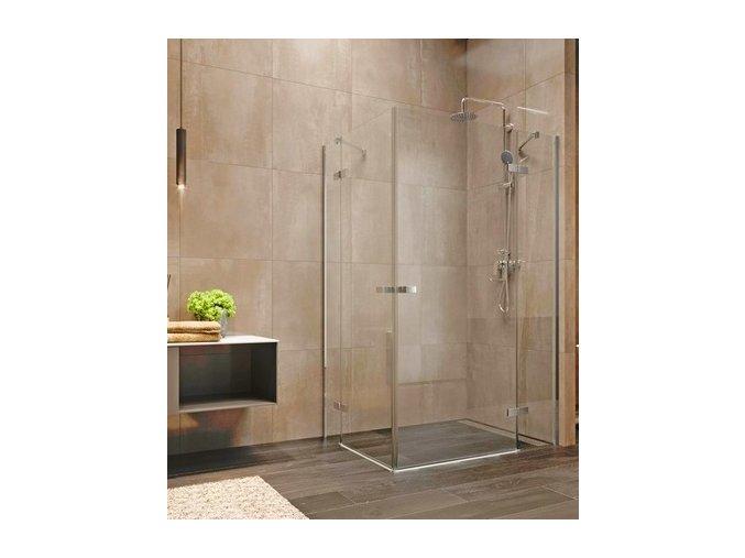 Nova sprchový kout obdélníkový 90x80x200 cm, čiré sklo 6 mm   koupelnyross.cz