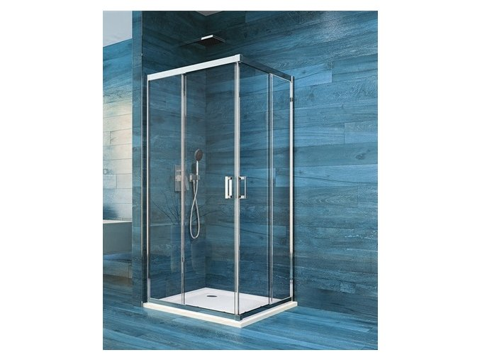 Sprchová čtvercová zástěna COOL 90 cm, rám chrom ALU | koupelnyross.cz