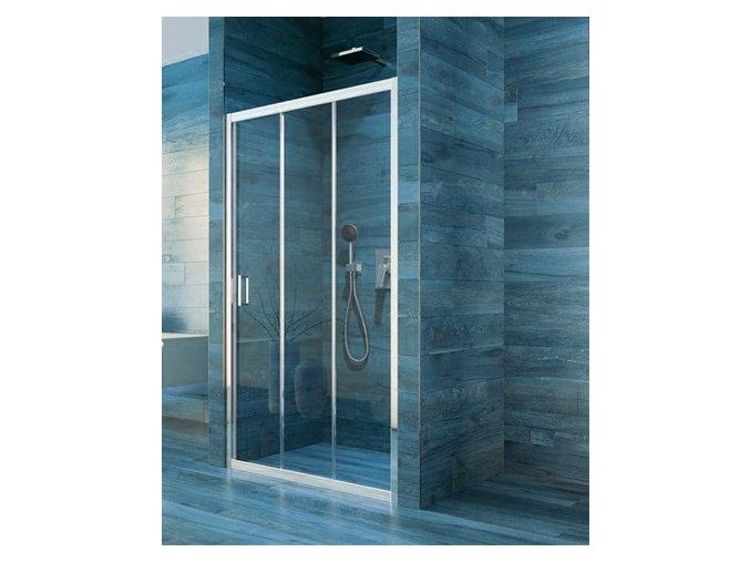 Sprchové trojdílné posuvné dveře COOL 100 cm | koupelnyross.cz