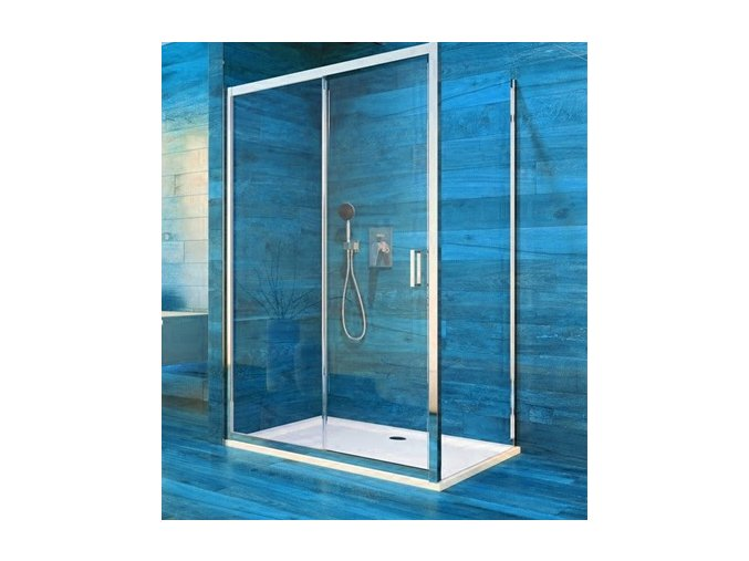 Sprchový čtvercový kout COOL 100x100 cm, rám chrom ALU   koupelnyross.cz