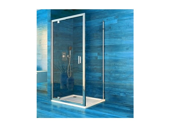 Sprchový jednokřídlý čtvercový kout COOL 90x90x190 cm, rám chrom ALU | koupelnyross.cz