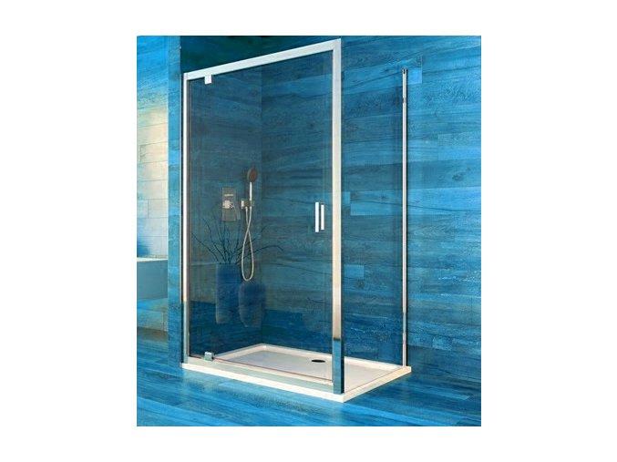 Sprchový jednokřídlý obdélníkový kout COOL 90x100 cm, rám chrom ALU | koupelnyross.cz